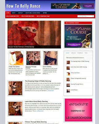 Learn Belly Dancing Blog Website With Affiliate Store Banners Free Domain