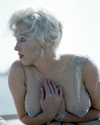Marilyn Monroe On Slih Set Candid Rare 8X10 Photo  08 24