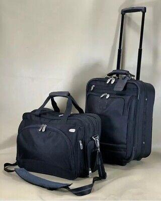 "Used Dakota by Tumi Black Carry On Set 16"" Briefcase & 18"" Upright Suitcase"