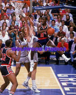 - NBA BASKETBALL CHICAGO BULLS MICHAEL JORDAN TEAM USA OLYMPICS PHOTO POSTER