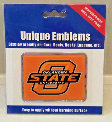 Oklahoma State University Cowboys Color Metal Auto Emblem Chrome Decal Free S&H!