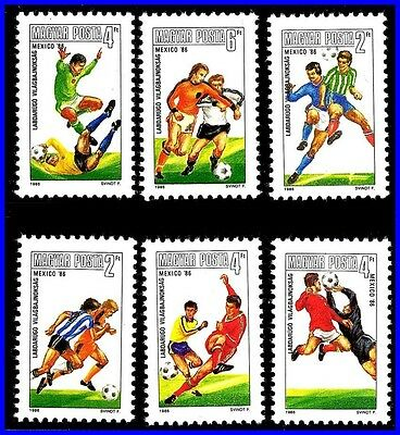 HUNGARY 1986 FIFA - WORLD SOCCER CUP / FOOTBALL MNH 200 PEOPLE SAW IT!