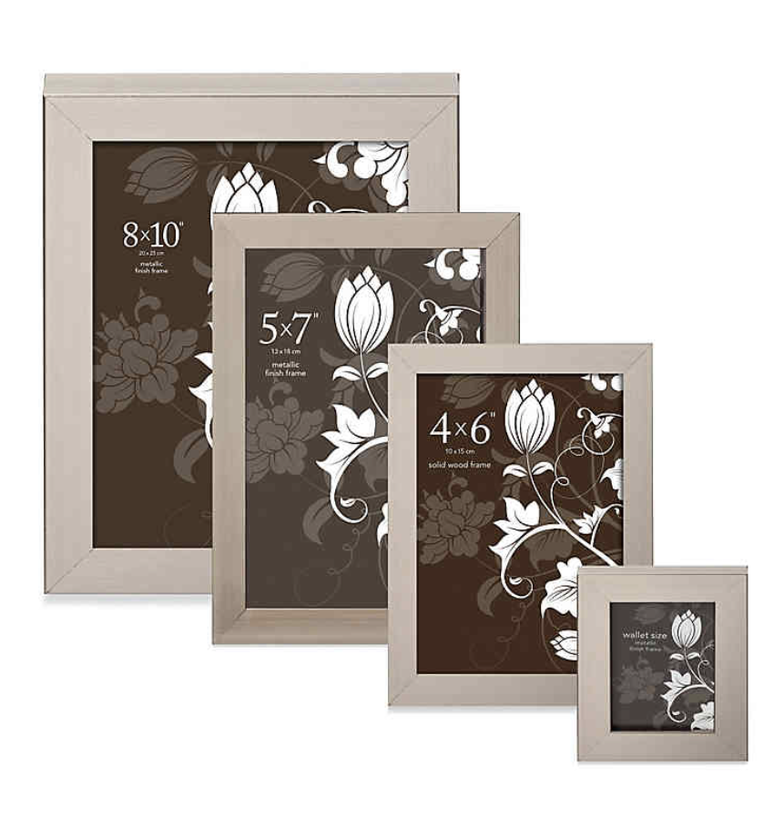 """NEW Prinz Soho Picture Frame in Pewter 5"""" x 7"""""""