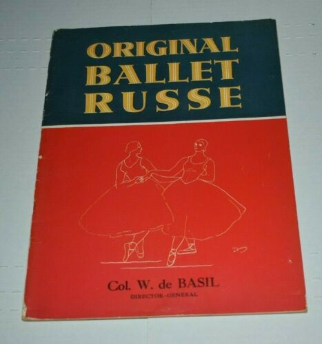 1946 ORIGINAL BALLET RUSSE   souvenir program