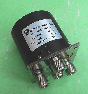 1pc EPX SP3T-1A-12A 12V/12GHz RF coaxial switch
