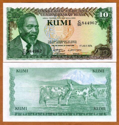 Kenya, 10 Shillings, 1978, P-16, UNC