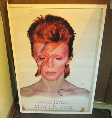DAVID BOWIE POSTER LIVE NEW NEVER OPENED LATE 2000'S VINTAGE  ALADDIN SANE