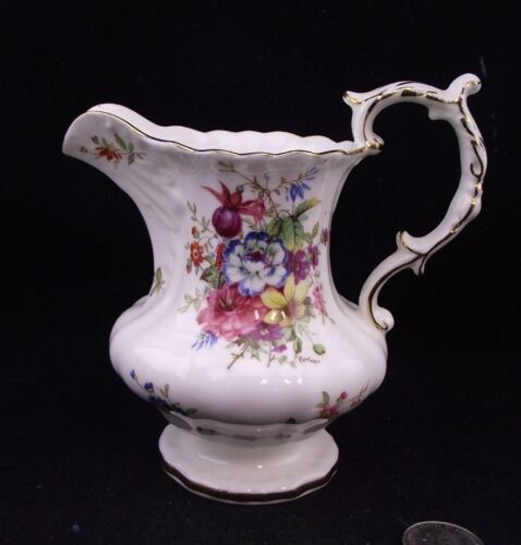 LARGE HAMMERSLEY BONE CHINA CREAMER WITH FLORAL PATTERN
