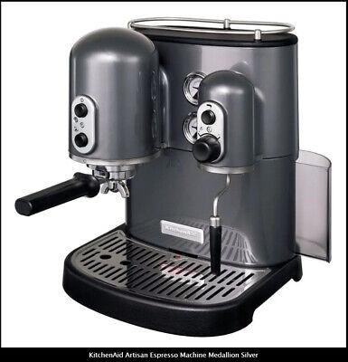 KitchenAid Artisan Espresso Machine Medallion Silver New !