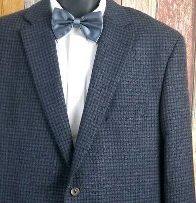 Jack Victor Men's Wool Blue Check Sport Coat Jacket 46 Regular
