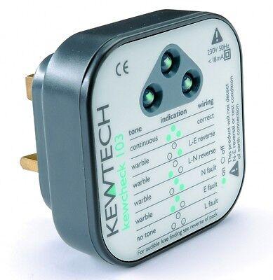 Kewtech Kewcheck103 Mains Socket Tester with Audible Tone