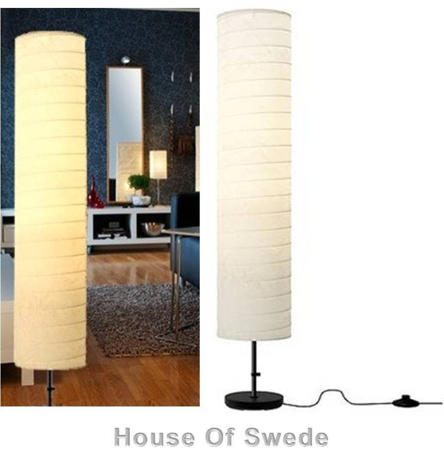 Ikea holmo floor lamp soft mood light modern rice paper for Modern chandeliers ikea