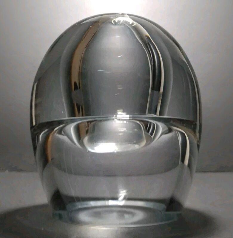 Contemporary Blown Glass Oil Lamp Krosno Poland