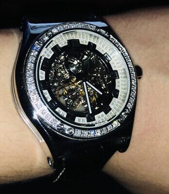 Mens KC Techno Com Automatic Diamond Watch Joe Rodeo Don Co Rare