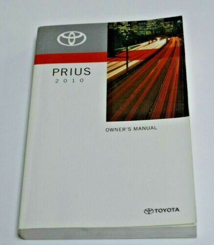 2010 TOYOTA PRIUS OWNERS MANUAL GUIDE BOOK OEM