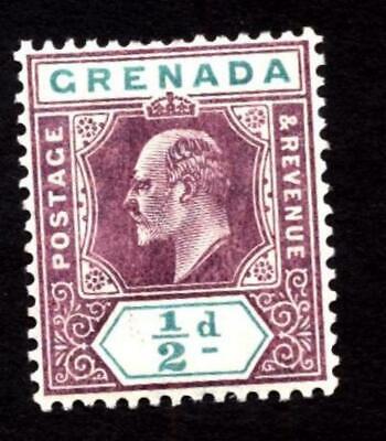 Stamps Grenada KEVII 1905 wmk mult crown CA (SG67 ½d mounted mint)