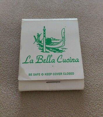 Vintage matchbook LA BELLA CUCINA Italian Restaurant Rt. 73 & Berks Rd PA rare