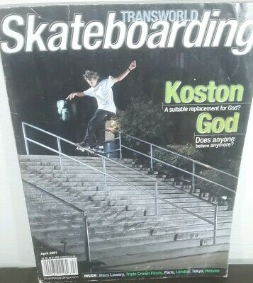 Transworld Skateboard Magazine April 2001 Eric koston interview poster inside