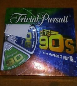 Trivial Pursuit The 90s Board Game The Decade of Your Life Parker Games vgc