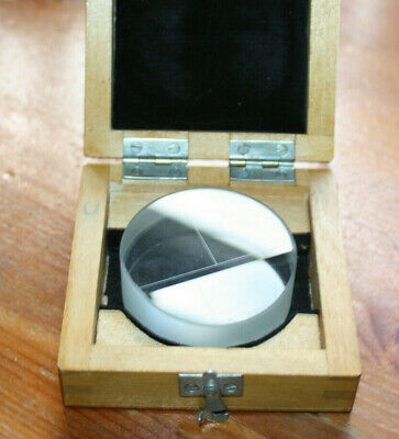 Details about  /Flat glass plate for interference measurements PI-60 USSR Gost QWL 2923-59 LZOS