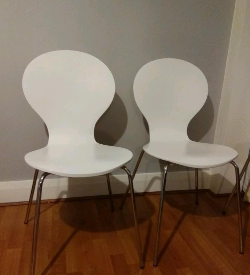 White Dining Room Chairs From Dunelm Mill