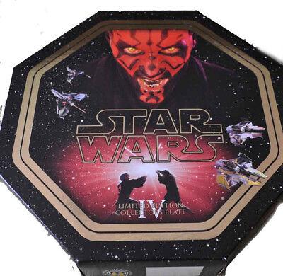 star wars  Darth Maul Phantom Menace collectors plate  Bnib Ltd edt