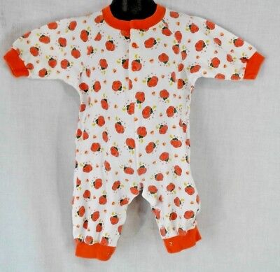 Romper Jack-o-lantern print Infant 12 months Haloween Candy corn moon stars 1 pc