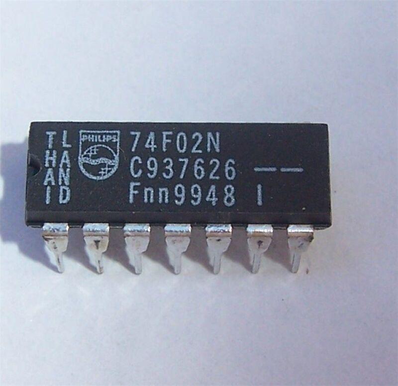 PHILIPS 74F02 N74F02 (10 PCS)