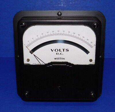 Large Nos Vintage 6.5 Weston Voltmeter Model 921 Panel Meter 300 Volts Dc Gauge