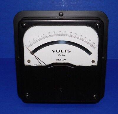 Large Nos Vintage 6.5 Weston Voltmeter Model 921 Panel Meter 300 Volts Dc Gauge