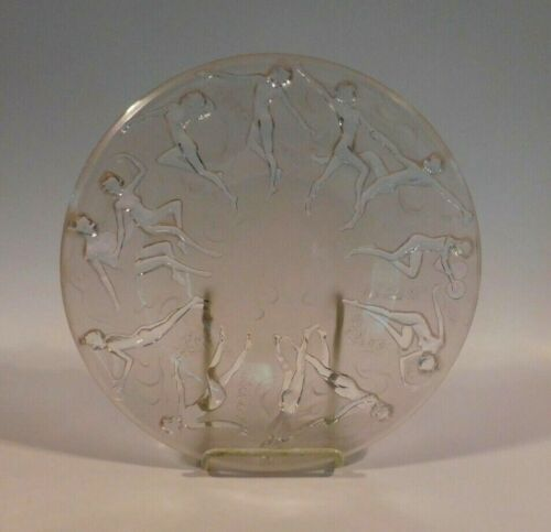 PHOENIX CONSOLIDATED GLASS Pan & Dancing Nymphs Dance of the Nudes Deco Plate WW