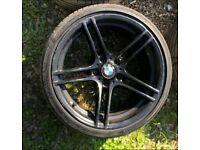 """x1 REAR 313M ALLOY 19"""" BMW w Tyre"""