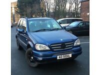Mercedes ML270 CDI 4X4! Year 2002 7 Seater 12 months mot £1350 Or swap