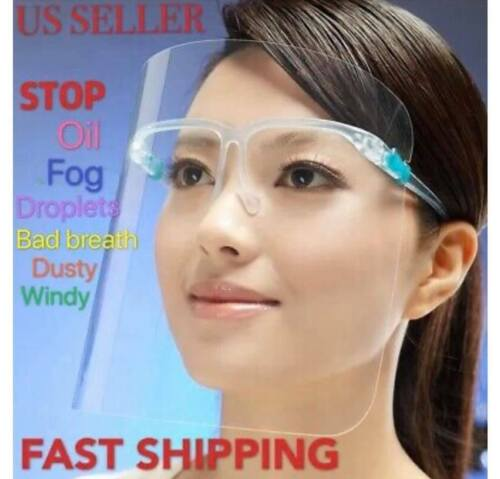 Safety Full Face Shield Reusable Washable Protection Cover Anti-Splash Guard