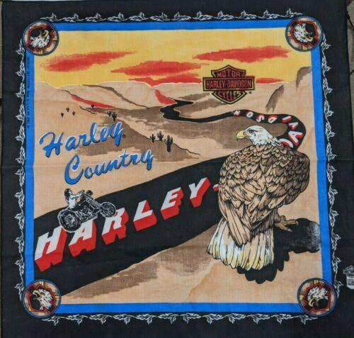 Vintage Harley Davidson Desert Motorcycle Eagle Biker Handkerchief Bandana