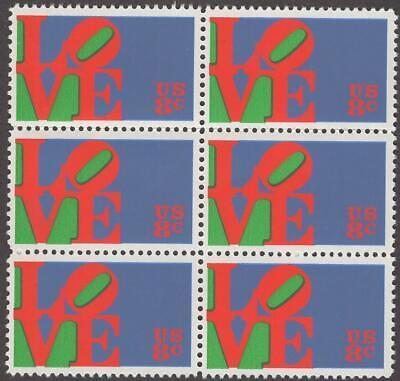 Scott # 1475 - Block Of 6 - Love - MNH - 1973