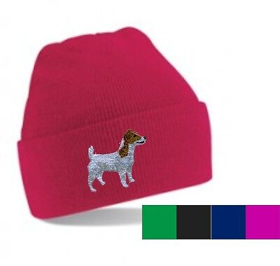 Jack Russell Terrier Beanie Hat Perfect Christmas Gift Embroidered by Dogmania