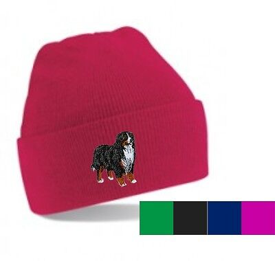 Bernese Mountain Dog Beanie Hat  Perfect Gift Embroidered by Dogmania - Mountain Dog Hat