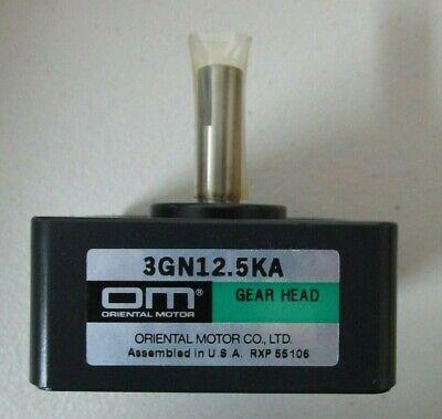 Oriental Motor Gear Head 3gn12.5ka New
