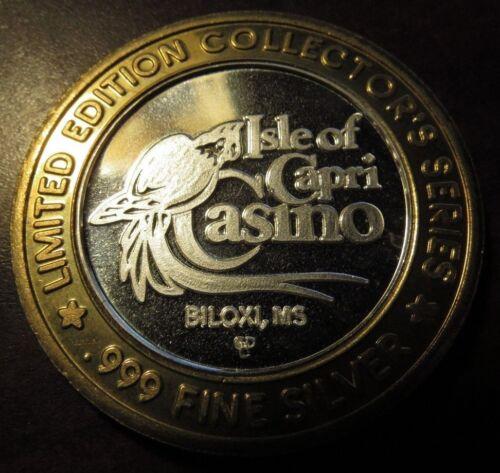 Isle of Capri Casino .999 Fine $10 Silver Strike Gaming Token - Biloxi, MS #1