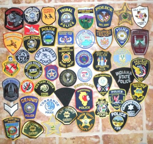 Lot of 50 USA Police Patches set