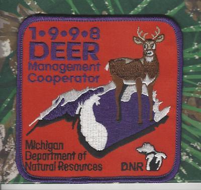 2003 MICHIGAN DNR SUCCESSFUL DEER HUNTER PATCH BEAR-TURKEY-ELK-MOOSE-FISHING