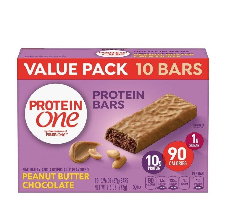 Protein One Peanut Butter Chocolate Bars Value Pack 10 Ct 9.