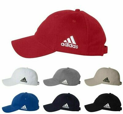 ADIDAS GOLF NEW Mens Cotton Crest Twill Cap Unstructured Ball Hat Adjustable A12](Golf Hat)
