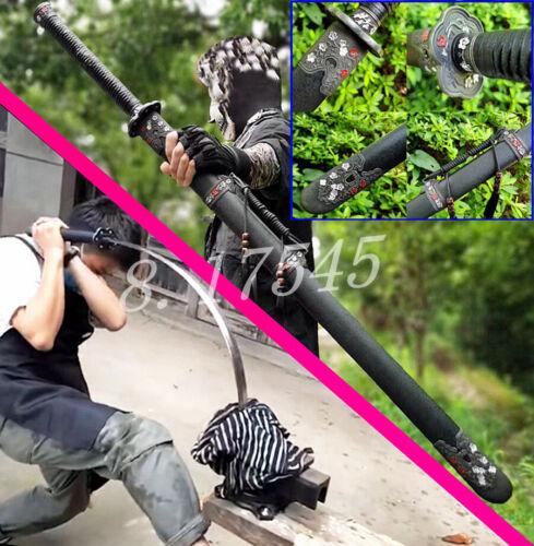 KungFu Broadsword Dao Sword Sharp 1095Carbon Steel WuShu Battle Knife Qing Saber