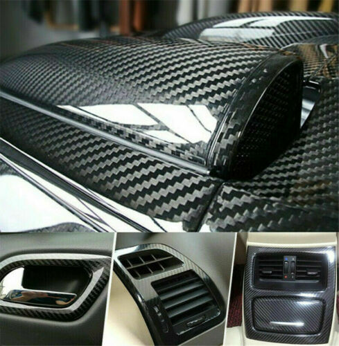 "Car Parts - 12x60"" Carbon Fiber Vinyl Film Car Interior Wrap Stickers Auto Parts Accessories"