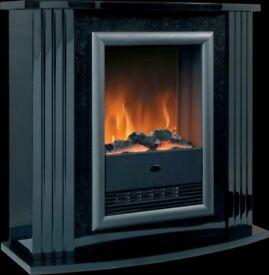 Dimplex Mozart electric fire suite in black