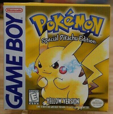 Pokemon Yellow Version - Original Game Boy - COMPLETE!!! (gameboy)