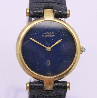VINTAGE Must de Cartier Paris Quartz Argent Ladies Watch 81 ORIGINAL = NEEDS TLC