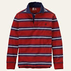 Timberland Striped Long Sleeve Polo, Rugby Men's Casual Shirts
